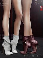 N'Délé @ Collabor88 Oct 2018 (Eboni Khan) Tags: hucci secondlife sl c88 collabor88 october 2018 fall booties peal slink maitreya belleza leather female avatar virtual world stiletto heel boots lara
