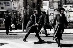 Running Wildly-DSC_8818-3 (thomschphotography3) Tags: israel jerusalem meashearim men jews jewish monochrome street streetphotography running chaos