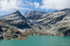 Another world (dobetoh) Tags: dobetoh nikon d3300 mountain lake lagoon water snow austria europe alps peaks blue sky clouds summer september