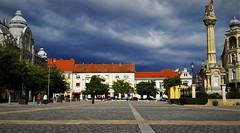 Belvárosi apokalipszis (Szombathely) (milankalman) Tags: storm sinister dark city square sky weather