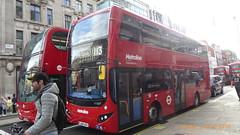 P1130582 VMH2450 LK18 AHA at Oxford Street Regent Street Oxford Circus London (LJ61 GXN (was LK60 HPJ)) Tags: volvob5lhybrid mcvevoseti mcv evoseti metroline 105m 10490mm vmh2450 lk18aha nb901