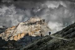Dolomites 2018 - The photographer [EXPLORED] (cesbai1) Tags: rouge photographer photographe italy italie italien italia dolomiti dolomites mountain mont mount montagnes sony a7r2 explore inexplore explored