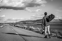 Espíritu aventurero (javipaper) Tags: blackandwhite blancoynegro libertad freedom soledad loneliness highway aventura adventure libre free