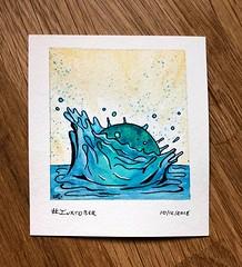 #Inktober Splash (alisonleighlilly) Tags: creativity play experiment splash water float glass chihuly watercolor inktober2018 inktober