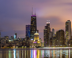 Chicago Cityscape 01 (Cerocchi) Tags: chicago illinois cityscape citylights panorama sonya7ii sony sonyalpha john hancock center thedrake drake