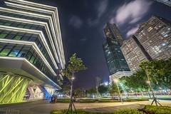 圖書總館與85大樓 (Hong Yu Wang) Tags: sony a73 a7m3 a7iii taiwan kaohsiung library nightview night architecture cityscape 高雄 圖書總館 夜景 夜晚 建築