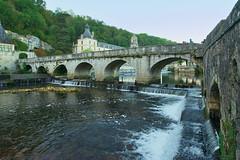 Brantome, Dordogne, SW France (surreydock) Tags: bridge river abbey france dromme water