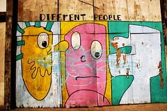 Graffitti, Differnt People, Miami (klauslang99) Tags: klauslang graffiti faces city art miami