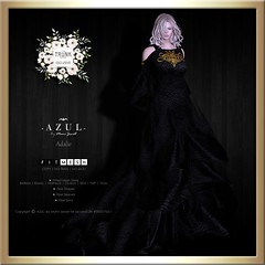 (AD) -AZUL- Adalie [TrunkShow] (mami_jewell) Tags: azul dress gown formal darl sleeves flexi mesh adalie exclusive limited trunkshow event prerelease sl secondlife game virtual avatar fashion