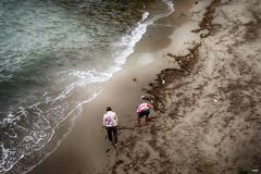 Buscando en la playa (candi...) Tags: playa cala olas agua arena personas hombre mujer algas sonya77 mar