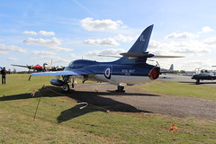 IMG_9630 (routemaster2217) Tags: northweald aviation aeroplane aircraft jetaircraft fighterjet jettrainer trainingaircraft royalnavy rn bz admiralsbarge canfieldhunterltd hawkerhuntert8b rollsroyceavon wv322 gbzse