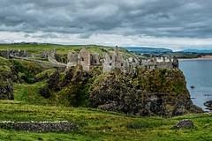 dunluce castle, northern ireland (-liyen-) Tags: dunlucecastle northernireland ruin stone coast fujixt2 summer travelphotography vacation clouds ocean countyantrim