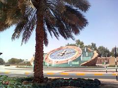 Clock Roundabout  -Al Ain - Abu Dhabi - United Arab Emirates - 2011 (Raju Alfaj) Tags: clock roundabout al ain united arab emirates 2013 uae dxb dubai designuae road dates tree green gulf middelest alain rak abudhabi kuwait ksa الإمارات العربية المتحدة