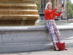 Check Me Out ! ! (jaykay72.) Tags: london uk street candid streetphotography trafalgarsquare stphotographia