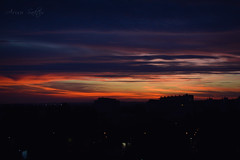 Night sky over Krakow (Arisu Saktos) Tags: krakow night dawn sky clouds cityline city poland nikon d5200