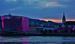 Das Ars Electronica Center in Linz (cammino5) Tags: linz arselectronicacenter nachtaufnahme donau juni 2018 donausteig österreich sunset