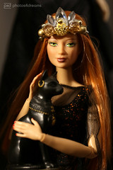 cat pet of the goddess (photos4dreams) Tags: barbie mattel photos4dreams doll p4d photos4dreamz toy puppe blonde blond canoneos5dmark3 canoneos5dmarkiii red rot readhead long hair lange haare dress barbies girl play fashion fashionistas outfit kleider mode kayla morgaine
