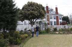 Hough and Ruff check which areas of the garden need improvement. When they returned in August 2016 to their property, they found that the general manager had not maintained the upkeep of the property in Rallo's medical absence.