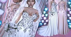 Flowered-Gown-Dress@Vanity (Insomnia Store) Tags: is isnomnia exclusive vanity event wedding bride flowers gown dress elegant sensual maitreya slink belleza fashion secondlife