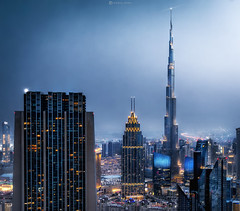 (Ahmad_dubai) Tags: dubai skyscrapers sky skyline skyscraper amazing panoramic night bluehour blue colourful camera city cityscape burjkhalifa mydubai ahmaddubai art architecture light lights life tower photography