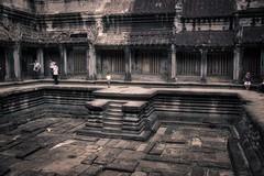 Inside Angkor Wat temple ruins near Siem Reap, Cambodia