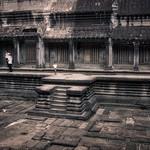 Inside Angkor Wat temple ruins near Siem Reap, Cambodia thumbnail
