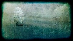 Tall Ship in a Storm (RJ.Take2) Tags: cedarpark tx usa richardjones richarddjones silverwhitephotography tallship grace sea ocean storm cloudscapephotography weather textured best top awesome beautiful nature roughcamera photovoice vintage art fineart fineartphoto digitalart photoart layered grunge impressionist painterly gallery collection artineed