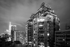 Taipei (Bill Thoo) Tags: longexposure night batis18mm batis zeiss a7rii sony blackandwhite bnw monochrome building travel architecture urban cityscape landscape taiwan taipei