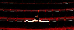 Biding her time (coollessons2004) Tags: red redhead theater elegant elegance beauty woman girl
