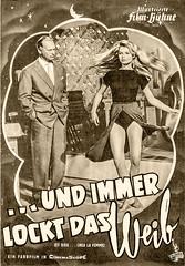 Und immer lockt das Weib (zimmermann8821) Tags: brd deutschland darsteller darstellerin filmprogramm filmwerbung illustriertefilmbühne kino schauspieler schauspielerin curdjürgens brigittebardot frankreich