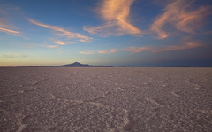 Evening (Joost10000) Tags: salar uyuni salardeuyuni bolivia southamerica salt saltlake altiplano highlands lake landscape evening landschaft flat mountain sky cloud red canon eos canon5d travel adventure outdoors wild wilderness