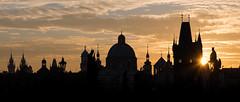When The Sun Hits The Beauty (drasphotography) Tags: praha prague prag dawn sonnenaufgang sun sonne sole silhouette sky czechrepublic tschechien city urban drasphotography nikon travel travelphotography