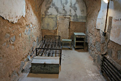 Bare Bones (Throwingbull) Tags: eastern state penitentiary jail prison incarceration incarcerated inmate inmates philadelphia pa pennsylvania history historic cell cells holding