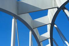 Bicycle bridge (Jan van der Wolf) Tags: map190178vv brug bridge curves lines lijnenspel lijnen interplayoflines playoflines bicycle architecture architectuur composition construction