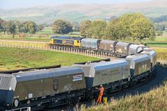 Arcow Quarry Stone Train (Geoff Dickinson) Tags: arcowquarry class66 helwithbridge railways settlecarlisleline settle northyorkshire unitedkingdom gb