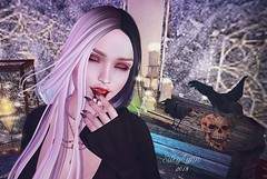 The Taste of Blood (Silky Lynn) Tags: pout catwa liclyndyinchains truth vampire blood darkgoth gothic gore 2ndlife fantasy nails claws
