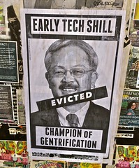 Ed Lee, San Francisco, CA (Robby Virus) Tags: sanfrancisco california sf ca ed lee mayor paste pasted paper pasteup early tech shill champion gentrification gentrify mission district wheatpaste