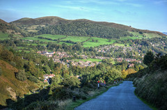 Church Stretton, Shropshire, from the Long Mynd (Baz Richardson (now away until 26 Oct)) Tags: shropshire shropshirehills churchstretton markettowns longmynd