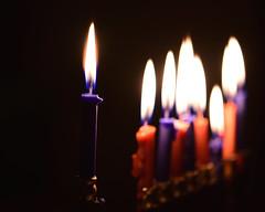 Chanukah Menorah Burning Down (slgckgc) Tags: candle candles hannuka hanukah hannukah hanuka chanukah chanuka