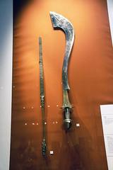 DSC_0980 London British Museum African Display Staff and Sword from Benin City Nigeria 18th Century (photographer695) Tags: london british museum african display staff sword from benin city nigeria 18th century