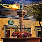 Geneseo - New York - The Bear Fountain sits in the center of Geneseo village's main street. thumbnail