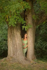"""""""Within is Everywhere"""" (* La Strada Fellini * braunpanther *) Tags: mother baby pregnancy pretty sensual romantic model woman girl actress artist portrait nature availablelight natural nophotoshop naturallight fall autumn leafs dreamy dramatic theather life story conceptual hair blond park tree cave"""