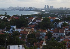 Old Olinda with Recife in the distance (Mrs Butterbur) Tags: brazil pernambuco recife lagoon skyscrapers beach sea coast