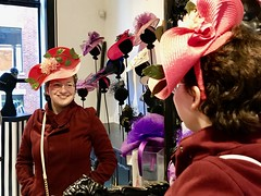 At the Milliners (Read2me) Tags: sowamarket pree cye clothes hat girl shop store mirror reflection red cell thechallengefactorywinner tcfunanimousoctober ge