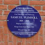 Samuel Plimsoll Blue Plaque, Bristol thumbnail