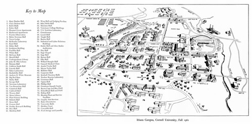 Cornell University campus map 1962 - a photo on Flickriver