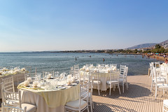 Dinner by the sea in Vouliagmeni, Athens