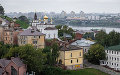 Nizhny Novgorod, Russia (Oleg.A) Tags: ancient autumn volga building cathedral church old russia nizhnynovgorod city gold oka overcast dome clouds cloudy morning landscape street outdoor nature river exterior orthodox design architecture cross antique viewpoint town white catedral golden landscapes outdoors nizhnynovgorodoblast ru