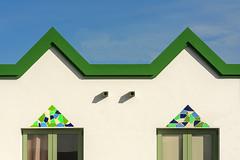 Building with a green edge (Jan van der Wolf) Tags: map18199v green gevel gebouw groen edge rand house symmetry symmetric facade fuerteventura