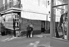 Meet me on the Corner (Bury Gardener) Tags: streetphotography suffolk street snaps streetcandids strangers candid candids people peoplewatching folks 2018 nikond7200 nikon england eastanglia burystedmunds britain blackandwhite bw